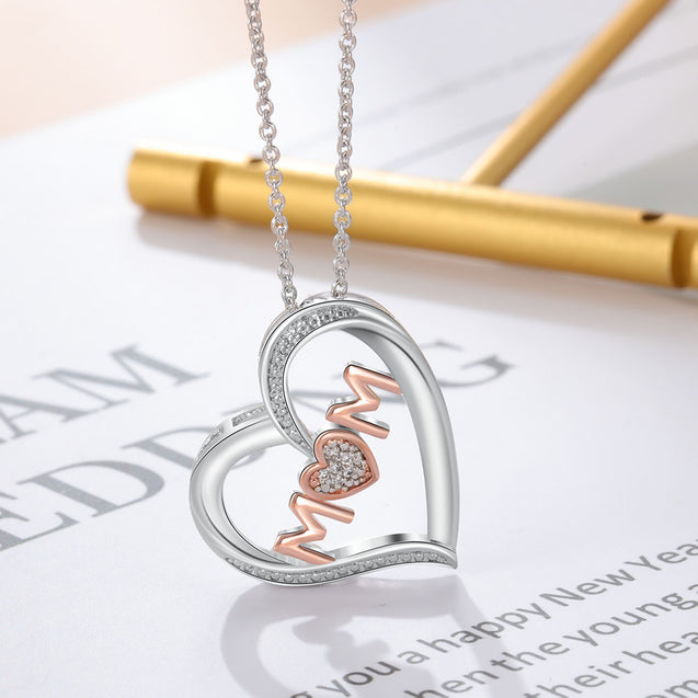 Mother Necklace Heart Pendant Thanks Mom Necklace