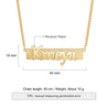 Men Name Necklace Custom Bar Necklace Personalized Name Chain 14K Gold Pated