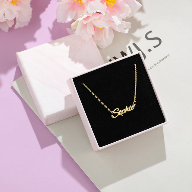 Personalized Name Necklace Rose Gold Custom Name Chain for Girls Best Gift For Girlfriend
