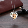 Custom Photo Necklace Heart Pendant with Engraving Personalized Gift