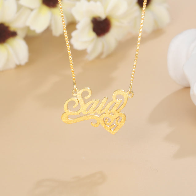 Sparking Name Necklace with Heart Personalized Name Necklace