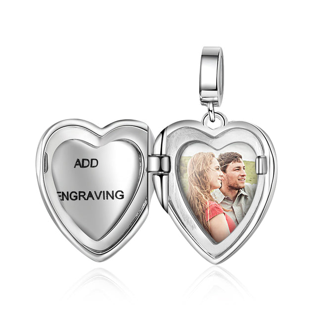 Heart Photo Locket Necklace Personalized Gift For Her