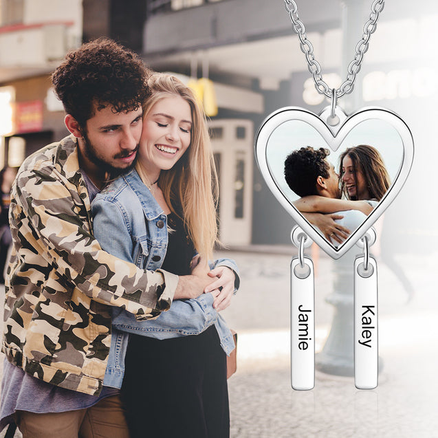 Dream Catcher Photo Necklace Pendant With 2 Engraving Bars