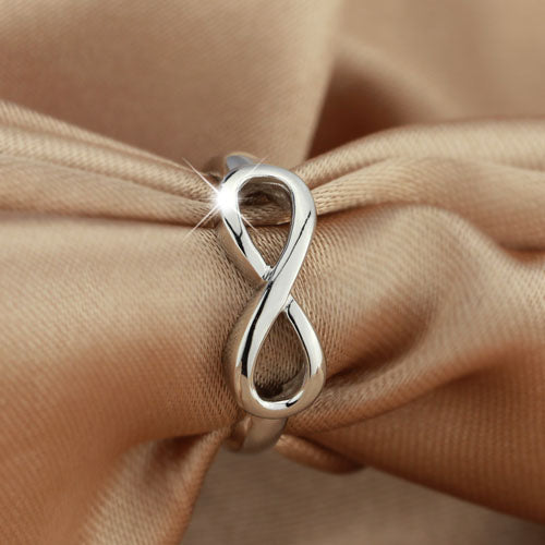 Personalized Infinity Promise Ring for Her Engravable Infinity Symbol Ring Sterling Silver