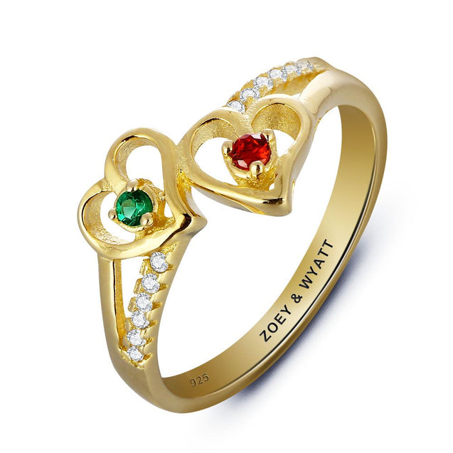 18K Gold Plated Rings For Mother
