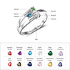 Personalized Mother Rings with 3 Birthstones Family Rings Anniversary Rings Mother's Day Rings