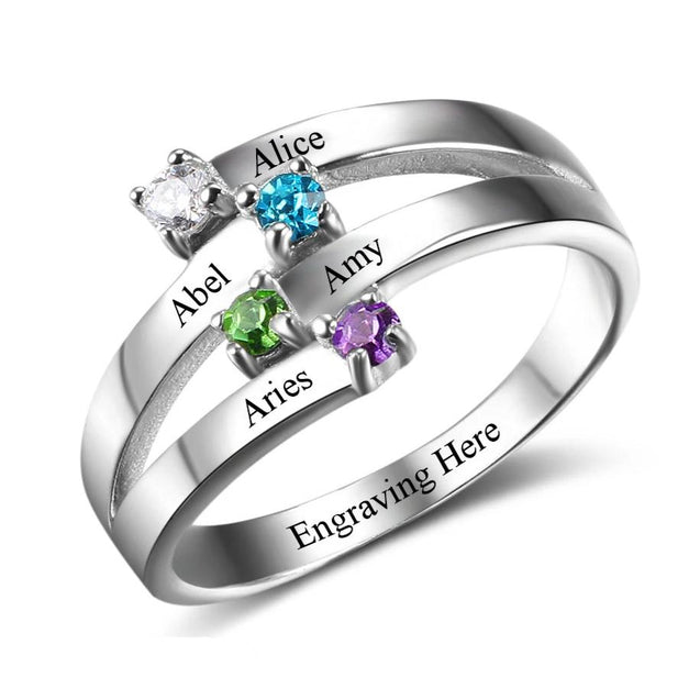 mothers birthstone rings Gift Idea