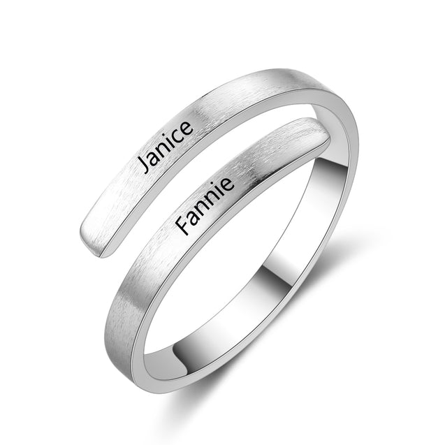 Personalized Engraved Names Ring