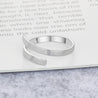 simple design promise ring special gift silver