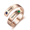 promise rings best gift for her Gold Plated