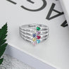 mothers birthstone rings sterling silver