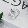 mothers birthstone rings gift for grandmother