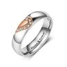Half Heart Matching Promise Ring for Couple Lovers Custom Engraved Bands Ring