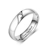 Personalized Rings for Couples Heart Matching Ring Set Engravable Promise Ring