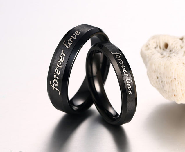 Rings for Couples Personalized Ring Set Promise Ring for Him and Her Engravable Heart Names Custom Anniversary Gift Idea