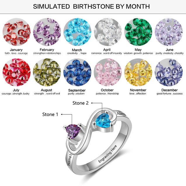infinity promise ring for her birthstone ring