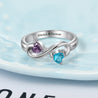 infinity promise ring for her birthstone ring sterling silver