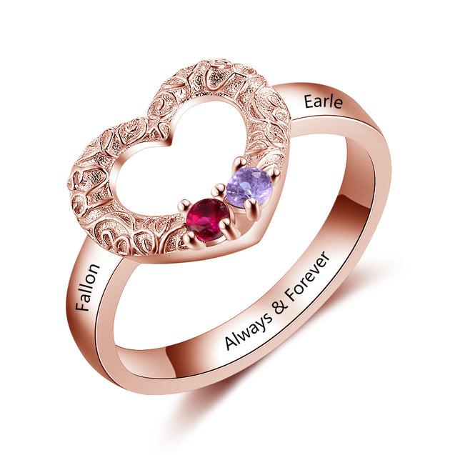 couple's birthstone ring