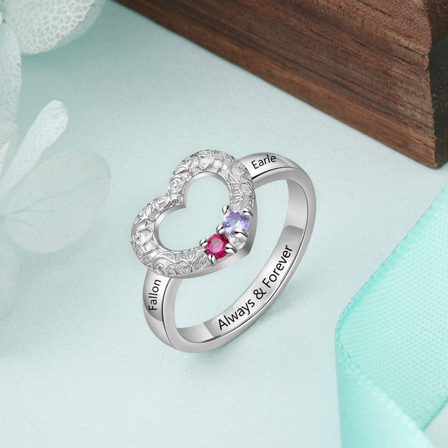 Personalized birtstone ring mother ring promise ring best gift