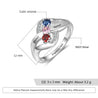 Birthstone Mothers Ring 3 Stones Engraved 3 Names Personalized Mom Rings Bypass Ring