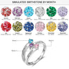 Mother Ring with 3 Birthstones Mom Rings Engraved 3 Names Personalized Family Ring
