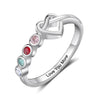 Engraved Birthstone Rings for Women Personalized Names