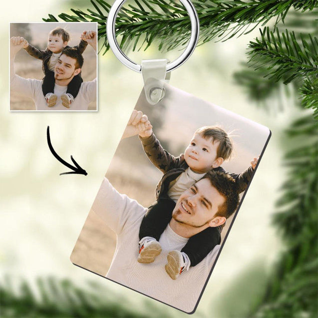 Custom Photo Keychain Board Memorial Gift For Father