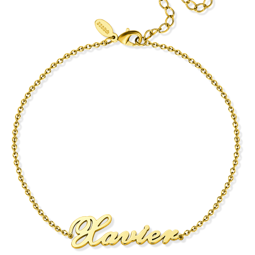 Custom Name Anklet Personalized Name Anklets Gold