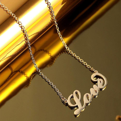 Custom Name Necklace Delicate Pendant sterling silver gold name necklace