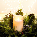 "RealLite Battery Operated Candle 3""x5"" Ivory 