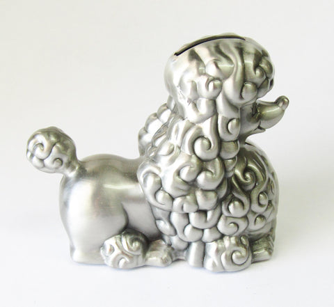 Pewter Finish Bank Poodle| Rubies Inc., Chatham, Ontario, Canada
