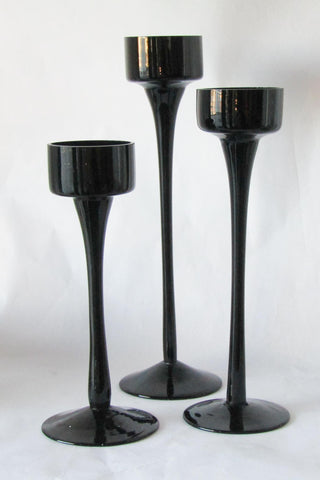 Black Tealight Trio | Rubies Inc., Chatham Ontario, CANADA