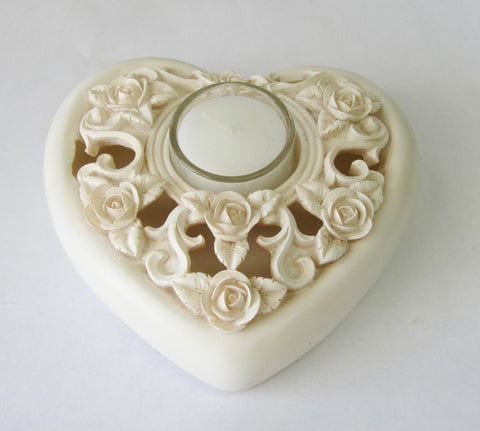 Ivory Heart Tealight Holder | Rubies Inc., Chatham, Ontario, Canada