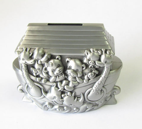 Pewter Finish Bank Noah's Ark | Rubies Inc., Chatham, Ontario, Canada