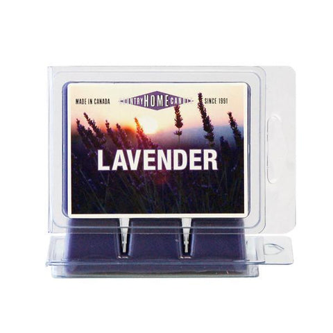 Country Home Candle - Lavender Scent Square | Rubies Inc., Chatham, ON