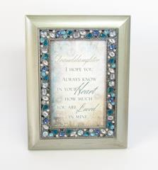 Silver Poem Frame ~ Granddaughter | Rubies Inc., Chatham, Ontario