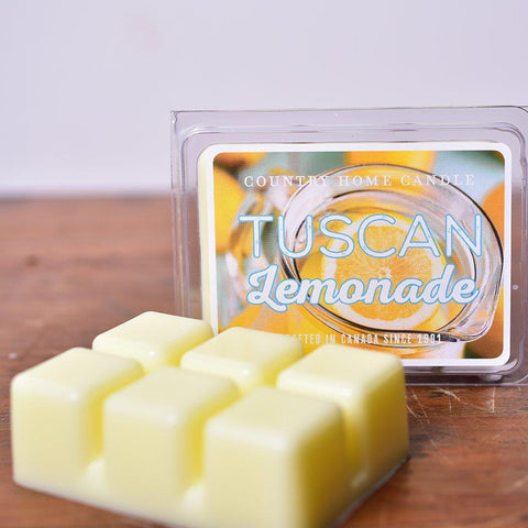 Country Home Candle - Tuscan Lemonade Scent Squares | Rubies Inc. Chatham ON Canada