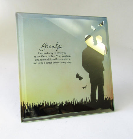 Sentimental Glass Plaque - Grandpa | Rubies Inc., Chatham, Ontario