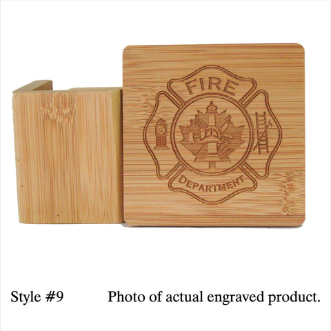 Bamboo Coasters Including Personalization | Rubies Inc. Chatham ON Can