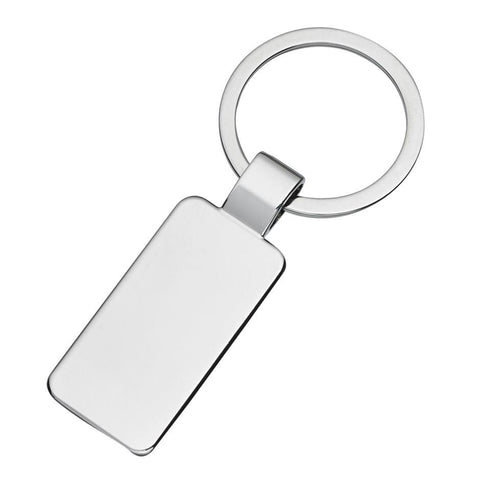 Silver Rectangle Keychain | Rubies Inc., Chatham, Ontario, Canada