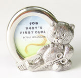 Pewter Frame - For First Curls | Rubies Inc., Chatham, Ontario, Canada
