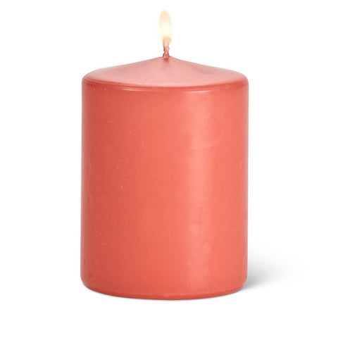 Pillar Candle 3x4 - Coral | Rubies Inc., Chatham, ON, N7L 1X5
