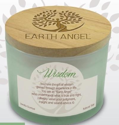 Earth Angel Candle ~ Widsom | Rubies Inc., Chatham, Ontario, Canada
