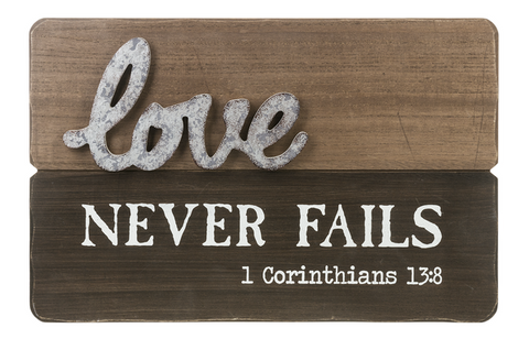 Love Never Fails Plaque | Rubies, Chatham, Ontario, Canada