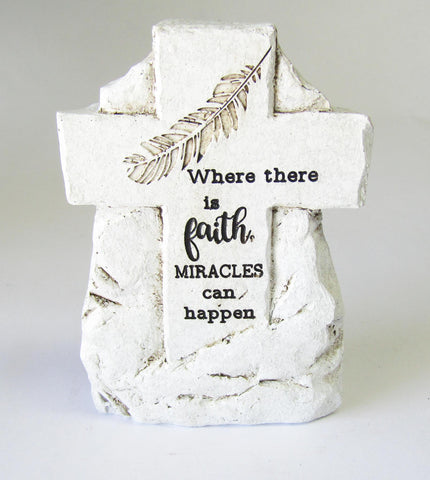 Faith Memorial Cross Stone | Rubies Inc., Chatham, Ontario, Canada