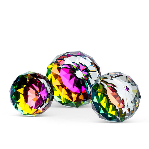 3 Piece Crystal Ball Set | Rubies, Chatham, Ontario, Canada