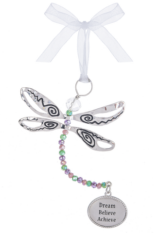 Ornament Dragonfly Dream Believe Achieve | Rubies Inc., Chatham, ON