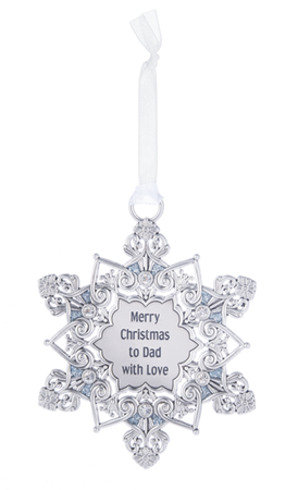 Snowflake Ornament - To Dad | Rubies Inc., Chatham, Ontario, Canada