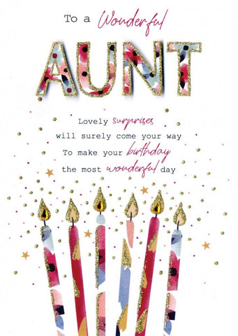 Wonderful Aunt Birthday Card | Rubies Inc Chatham ON Canada