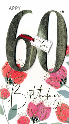 60th Birthday With Love Card | Rubies Inc Chatham ON Canada